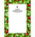 Christmas background with fir and holly vector image