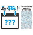 Unknown Day Calendar Page Icon With 1000 Medical vector image