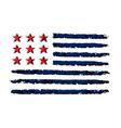 American flag color grunge celebration vector image