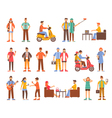 Hipster People Decorative Icons Set vector image