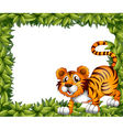 A frame with a tiger vector image