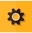 Settings icon Gear symbol Tools Flat design vector image