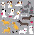 dogs clipart vector image