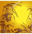 Sunset floral background vector image