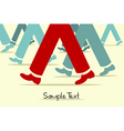 walking legs vector image