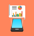 Smartphone data infographic app concept Isometric vector image