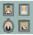 Retro Vintage Photo Frames Wealthy Victorian vector image vector image