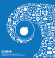 bomb icon Nice set of beautiful icons twisted vector image