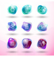 chemistry icons set vector image