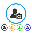 doctor rounded icon vector image