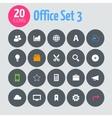 Flat minimalistic office 3 icons on dark gray vector image