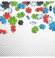 gambling poker chips rain realistic casino vector image