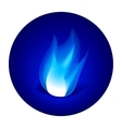 Gas fire icon vector image