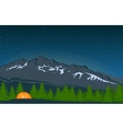 Landscape With Mountain Peak 4 vector image