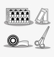 set first aid tools to help people vector image