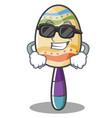 super cool maracas character cartoon style vector image