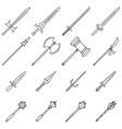 weapon icons line vector image