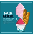 fair food snack carnival icon vector image