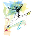 modern ballet dancer man vector image