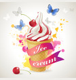 ice cream cone background vector image vector image