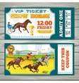 Equestrian Show Pass Tickets vector image