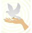 Nature Icons with hands set vector image vector image