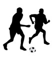 young soccer players vector image