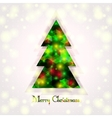 a Christmas tree on an abstract background vector image vector image