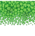 green falling clovers isolated on white vector image