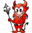 Hand-drawn of an Little Red Devil Boy vector image vector image