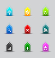 Computer network icon series vector image