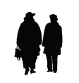 couple cute black silhouette vector image
