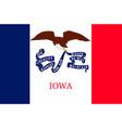 flag of iowa usa vector image