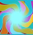 multicolored wavy halfton background vector image