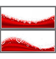 Red heart headers vector image
