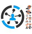relations diagram icon with valentine bonus vector image