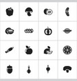 set of 16 editable vegetable icons includes vector image