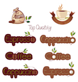 set of logos for coffee vector image