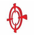 Target paintball cartoon icon vector image