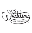 wedding hand lettering vector image