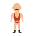 strong man cartoon circus vector image