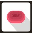 Pink soap icon flat style vector image