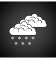 Snow icon vector image