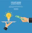 money for idea vector image vector image
