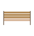 icon bench vector image