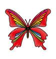 scribble butterfly cartoon vector image