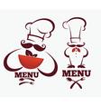 kitchen professionals vector image vector image