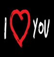 iloveyou2 vector image vector image