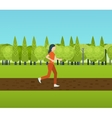Sport woman run fitness girl jogging vector image
