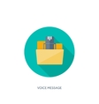 Flat background with envelope vector image vector image